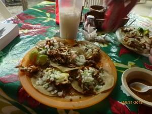 Five of our ten tacos from La Jarocha.