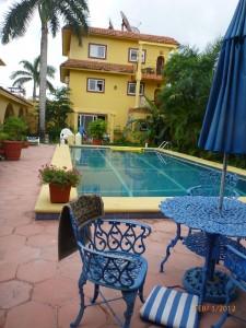 The huge pool at the Villa Diamond K