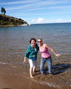 Lake Titicaca is really cold!