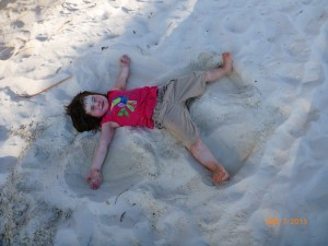 Sometimes a sand castle just isn't enough-you need a sand angel!