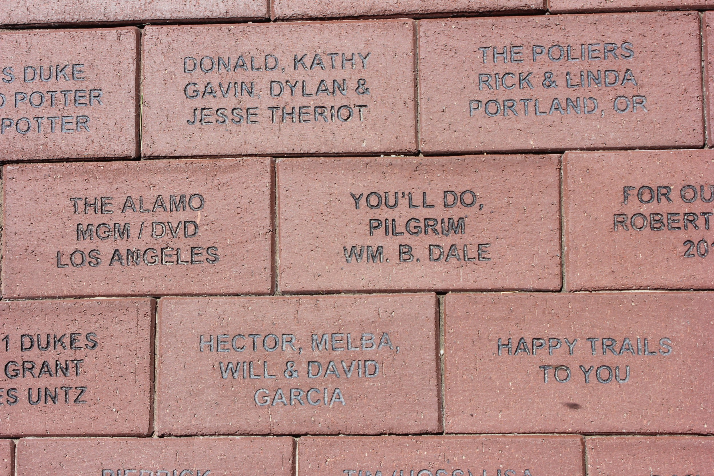 Tribute Bricks: for $125 you can leave your mark on a part of the property.