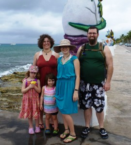 Our first day in Cozumel with the kids last year.