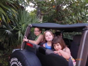 Three kids in a Jeep? No problem.