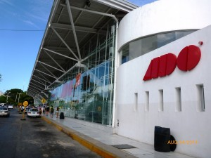 ADO downtown bus station, Cancun, Mexico.