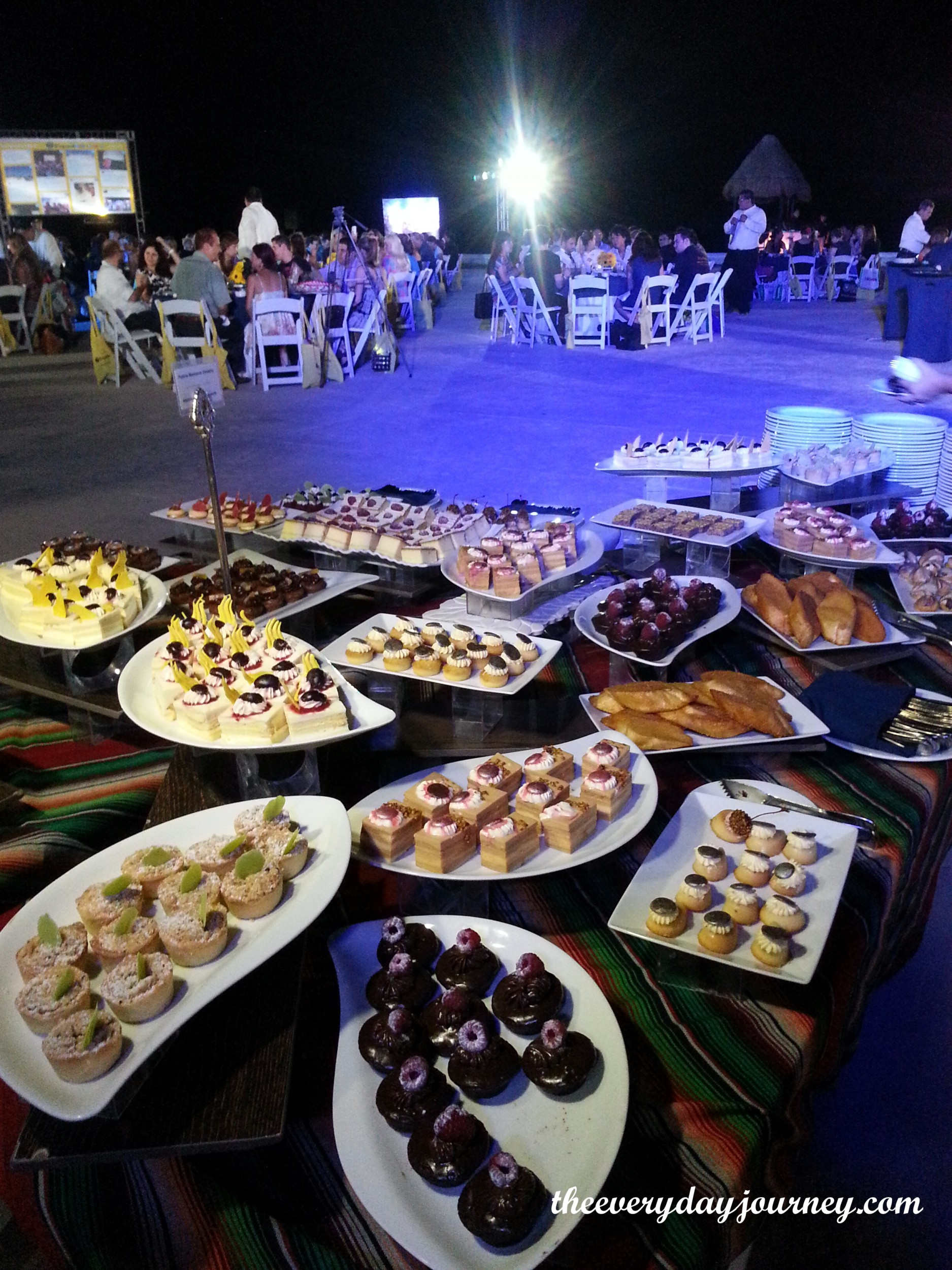 This is just the dessert table-imagine what else we ate at the Expedia party!