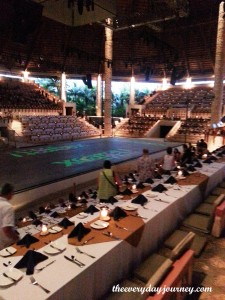 The Xcaret stage and dinner show.