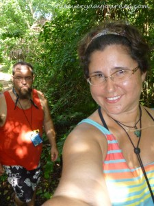Jason and I trekking through the jungle on our AllTOURnative tour.